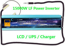 15000W LF Split Phase PSW 24VDC/110V,220V AC 60Hz Power Inverter LCD/UPS/Charger