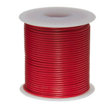 """24 AWG Gauge Stranded Hook Up Wire Red 100 ft 0.0201"""" UL1007 300 Volts"""