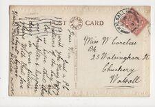 Miss Win Careless Walsingham Street Chuckery Walsall 1921 471a