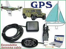 Laptop GPS Receiver + Antenna/ Boater Google Map NetBook PC Android Tablet USB E
