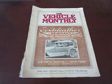 1921 Vehicle Monthly Magazine Klaxon Custom Car & Truck Bodies Paint Upholstery