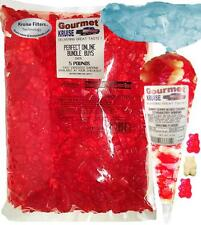 Red Gummy Bears Wild Cherry 5lb And Red And White Gourmet Kruise® Bag 11oz