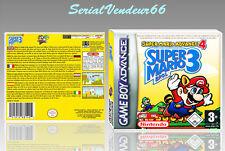 """BOITIER DU JEU """"SUPER MARIO BROS 3"""", GAME BOY ADVANCE, FR. SANS LE JEU."""
