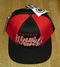Chicago Blackhawks hat Vintage 90's Snapback w tags STARTER dead stock Tri Power