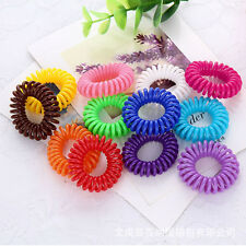 20pcs Slinky Elastic Rubber Tie Wire Coil Hair Bands Rope Ponytail Multicolor