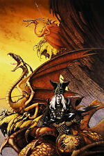 POSTER The Dragon Lord Roxxcalibur Lords of the NWOBHM Cover Rodney Matthews