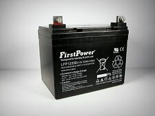 FirstPower 12v 33ah for U1 BATTERY MK MU-1SLD M AGM NUT AND TERMINALS