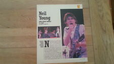 NEIL YOUNG & CRAZY HORSE US TOUR REVIEW 1978  2 PAGE  ARTICLE / clipping