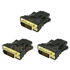 3 DVI Male to HDMI Female M-F 1.4 Adapter Converter For 1080p 2160p 3D HDTV LCD