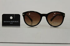 New Banana Republic Women Men Fashion Sunglasses Brown Plastic Frame Lens Summer