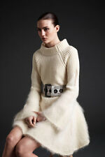 McQ Alexander McQueen Bell Sleeve Wool Mohair Knit Dress S NWT $1220