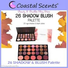 NEW Coastal Scents 26-Piece EYE SHADOW & BLUSH Palette FREE SHIPPING Face Powder