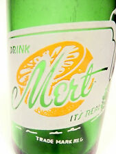 vintage ACL Soda POP Bottle: green MERT of WEST NEWTON, PA - 7 oz