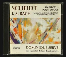 CD Scheidt Bach Dominique Serve orgue Sals de St Benoît sur Loire