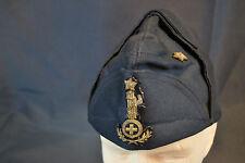 RARE ORIGINAL WWII ITALIAN MUSSOLINI FASCIST LEADER BLACK BUSTINA HAT CAP WW2