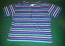 Maggie Lawrence Sport Striped Button DownTee Size12/16* Polyester Cotton $8.50