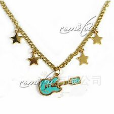 "Anime Super Sonico Guitar Gold Star 2"" Pendant Necklace Chains Jewelry Cosplay"
