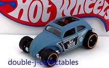 2016 Hot Wheels Volkswagen Exclusive Custom Beetle VW Bug Blue Loose