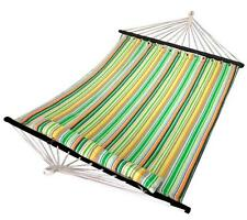 Hammock Quilted Fabric With Pillow Double Size Bar Heavy Duty Outdoor New