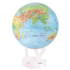 "FANTASTIC ""MOVA"" BLUE RELIEF WORLD GLOBE ATLAS MAP SOLAR SILENT 21.5cm 8.5"""