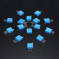 15 100Ω-500KΩ 15value 3296 Trimmer Potentiometer Assorted Kit Variable Resistor