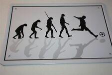 EVOLUTION - FOOTBALLEUR - Panneau métallique 21x15 cm 0102 mural