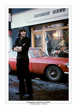 GEORGE BEST MANCHESTER UNITED A4 PRINT PHOTO CAREER STATS MAN UTD GIFT FOR HIM 4