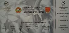 TICKET UEFA CL 2000/01 Schachtar Donezk - Arsenal London