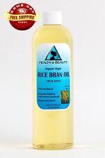 RICE BRAN OIL ORGANIC by H&B Oils Center UNREFINED COLD PRESSED PURE 12 OZ