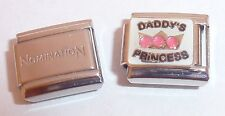 DADDY'S PRINCESS 9mm Italian Charm & 1 x Genuine Nomination Classic Link Pink