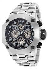 """Invicta 52mm S1 """"Twisted Metal"""" Chronograph Stainless Steel Bracelet Watch"""