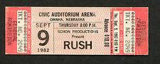 1982 Rush Rory Gallagher unused full concert ticket Omaha NE Signals Tour