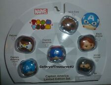 Marvel Vinyl Tsum Tsum SERIES 1 Captain America Limited Edition Set 6 Pack Fury