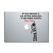 "Macbook Aufkleber Sticker Decal skin Air Pro 11"" 13"" 15"" 17"" Banksy politik girl"