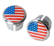 USA Flag Bicycle Handlebar Chrome Plastic Bar End Plugs, Bungs, Caps L'Eroica
