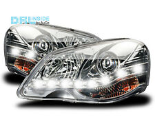 DRL inside real daytime running chrome headlights R87 LWR for VW Polo 9N3 05-09
