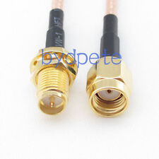 6inch RG316 RP-SMA male plug to RP-SMA female jack RF Pigtail Jumper Cable 15cm