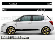 Skoda VRS 001 side racing stripes decals stickers graphics vinyl