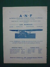 4/1932 PUB ANF LES MUREAUX NORD BLANC MISSERON AVION 110-R.2 AIRCRAFT FRENCH AD