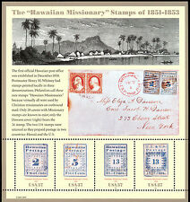 "Scott 3694, ""Hawaiian Missionary Stamps"" of 1851-1853:  2002 Pane of Four - MNH"