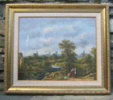 QUADRO ANTICO DIPINTO AD OLIO SU TELA PAESAGGIO Antique painting landscape