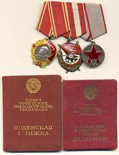 Soviet  Order Red Banner Lenin XX RKKA Set for NKVD KGB Officer Original (2133)