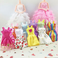 10Pcs/Lot Mixed Color Toy Clothes Tutu Princess Dresses for Barbie Doll Good Hot