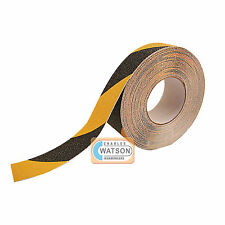 25mm x 10m Black/Yellow ANTI SLIP TAPE High Grip Adhesive Backed Non Slip Safety