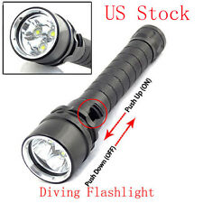 3LED L2 8000LM Waterproof Diving LED Flashlight Torch Lamp with Strap US Stock