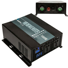 Power Inverter 1000W 12/24/48V to 120/220V Pure Sine Wave Inverter Run Fridge