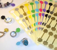 Flower Shaped Jewellery Price Stickers 16 x 54mm Tags / Labels / Dumbells