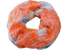 NEU 160x90cm Luxus SCHLAUCHSCHAL weiß-orange SCHMETTERLINGE Rundschal LOOP SCHAL