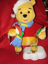 WINNIE THE POOH ANIMATED CHRISTMAS DISPLAY FIGURE BY TELCO,MOTION-ettes