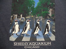 SHED AQUARIUM CHICAGO ABBEY ROAD PENGUINS t shirt sz S NEW NWOT fish